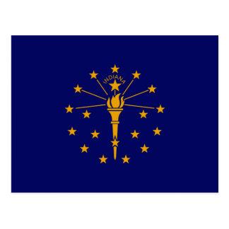 Indiana State Flag Design Postcard