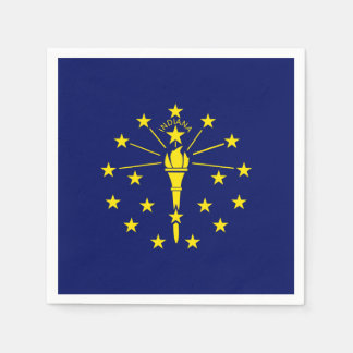 Indiana State Flag Paper Napkin