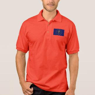 Indiana State Flag Polo Shirt