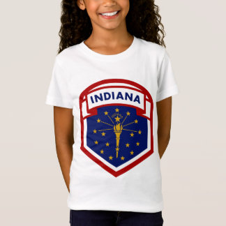 Indiana State Flag Shield Style T-Shirt
