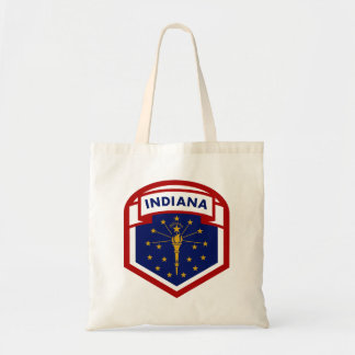 Indiana State Flag Shield Style Tote Bag