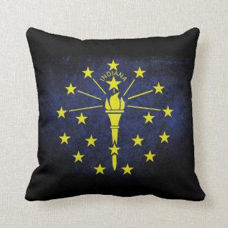 Indiana state flag throw pillow