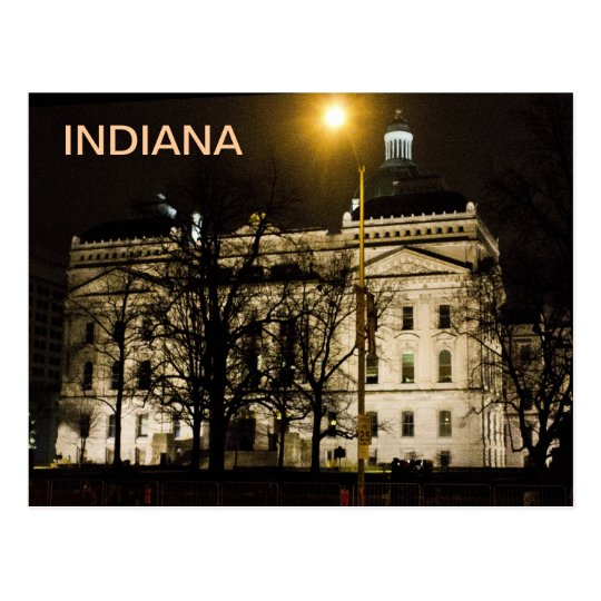 Indiana State House Postcard