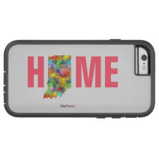 INDIANA STATE MAP - TOUGH XTREME iPhone 6 CASE