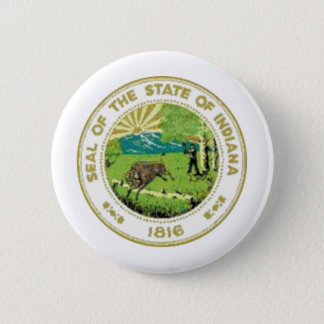 Indiana State Seal 2 Inch Round Button