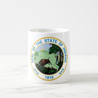 Indiana state seal america republic symbol flag coffee mug