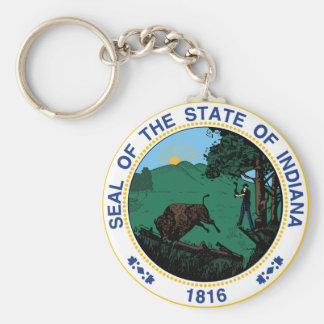 Indiana State Seal Keychain