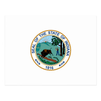 Indiana State Seal Postcard