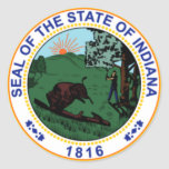 Indiana State Seal Stickers