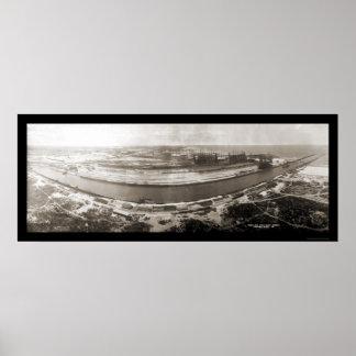 Indiana Steel Company Photo 1908 Poster