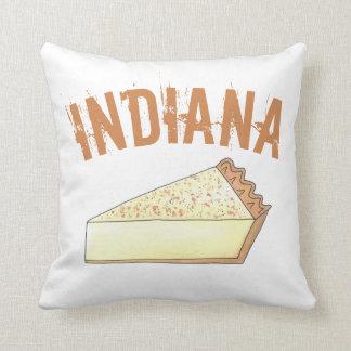 Indiana Sugar Cream Farm Pie Slice Foodie Dessert Throw Pillow