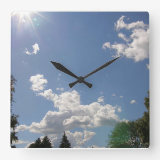 Indiana Summer Day Square Wall Clock