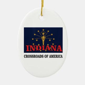 Indiana torch ceramic ornament