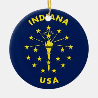 Indiana USA Ceramic Ornament