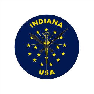 Indiana USA Round Clock