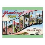Indiana -Vintage Postacard Design Postcard