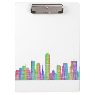 Indianapolis city skyline clipboards