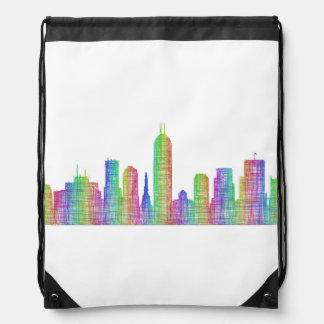Indianapolis city skyline drawstring bag