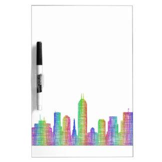 Indianapolis city skyline Dry-Erase whiteboard