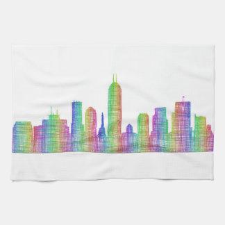 Indianapolis city skyline kitchen towel