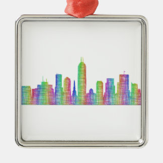 Indianapolis city skyline metal ornament