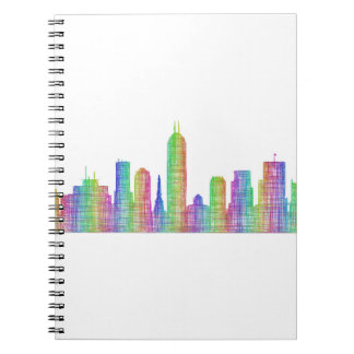 Indianapolis city skyline note book