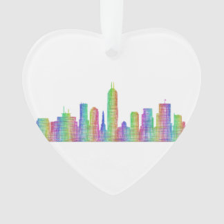 Indianapolis city skyline ornament