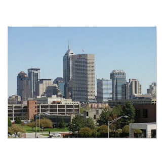Indianapolis City Skyline Poster