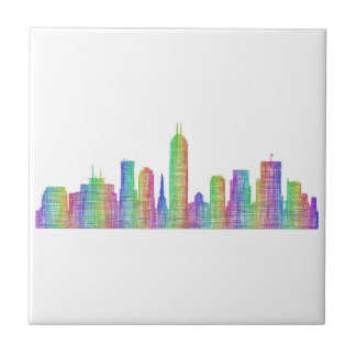 Indianapolis city skyline tile