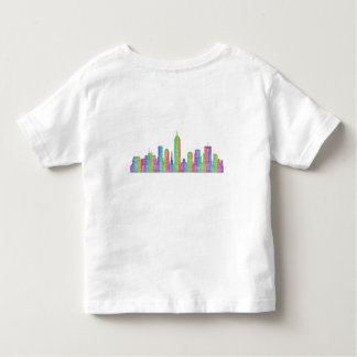 Indianapolis city skyline toddler t-shirt