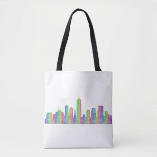 Indianapolis city skyline tote bag