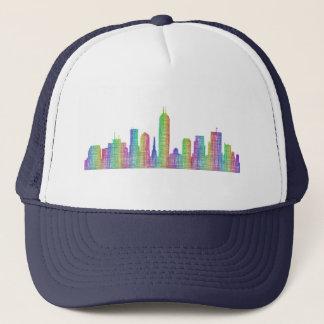 Indianapolis city skyline trucker hat