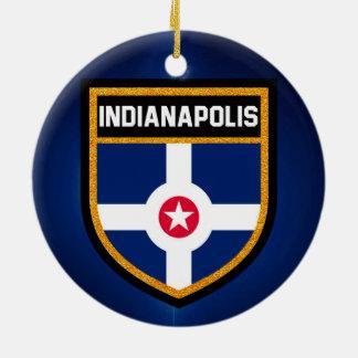 Indianapolis Flag Ceramic Ornament