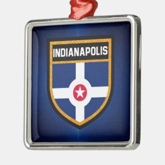 Indianapolis Flag Metal Ornament