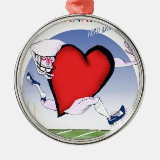 indianapolis head heart, tony fernandes metal ornament