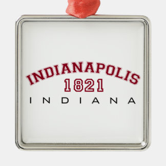 Indianapolis, IN - 1821 Metal Ornament