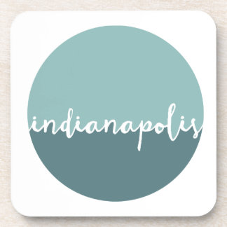 Indianapolis, Indiana | Blue Ombre Circle Beverage Coasters