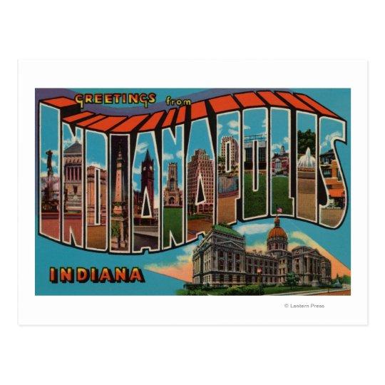 Indianapolis, Indiana (Capital Building) Postcard