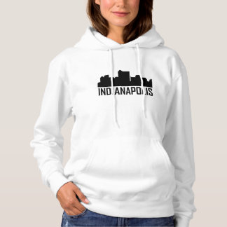 Indianapolis Indiana City Skyline Hoodie