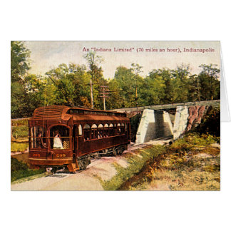 Indianapolis, Indiana Electric Trolley 1915 Card