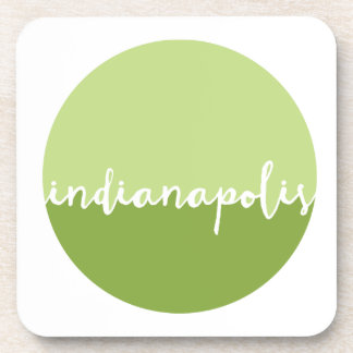 Indianapolis, Indiana | Green Ombre Circle Beverage Coaster