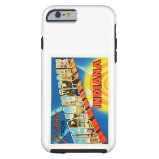 Indianapolis Indiana IN Vintage Travel Souvenir Tough iPhone 6 Case