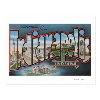 Indianapolis, Indiana - Large Letter Scenes 3 Postcard