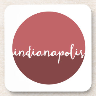 Indianapolis, Indiana | Rust Ombre Circle Drink Coasters