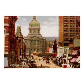 Indianapolis Indiana West Market Street Poster
