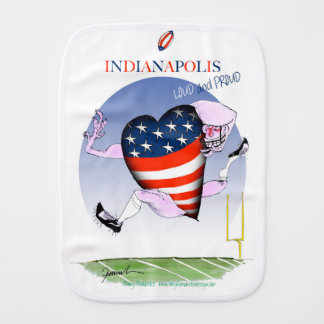 indianapolis loud and proud, tony fernandes burp cloth