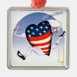 indianapolis loud and proud, tony fernandes metal ornament