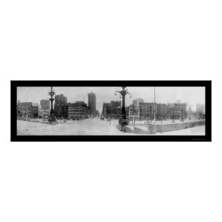 Indianapolis Monument Photo 1914 Poster