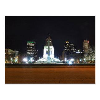 Indianapolis Skyline at Night Postcard