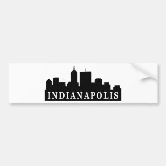 Indianapolis Skyline Bumper Sticker